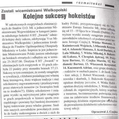 5 miejsce w Mistrzostwach Wielkopolski