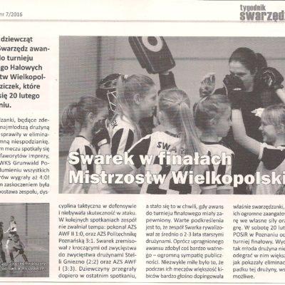 Halowe Mistrzostwa Wielkopolski Młodziczek - 2016