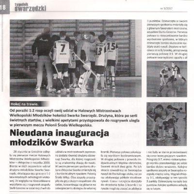 Halowe Mistrzostwa Wielkopolski Młodzików 2017 - turniej 1