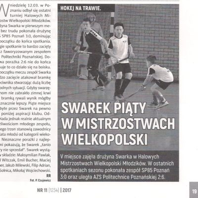 Halowe Mistrzostwa Wielkopolski Młodzików 2017 - turniej finałowy