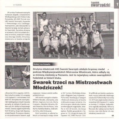 Międzywojewódzkie Mistrzostwa Młodziczek 2016