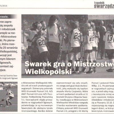 Mistrzostwa Wielkopolski 2016-17 - 1 turniej