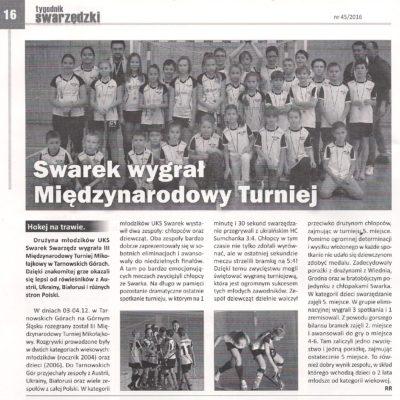 Turniej Mikołajkowy - Tarn.Góry 2016